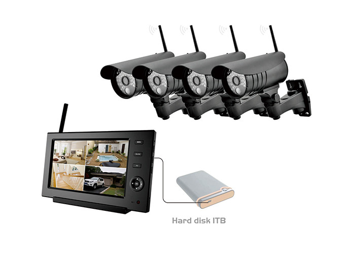 SD Memory Card Remote Home Surveillance TFT LCD Single Screen Wireless DVR