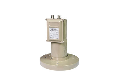 China GCF-D12L Universal C Band Twin LNB 100% Waterproof 3.4-4.2 GHz I/P Frequency distributor